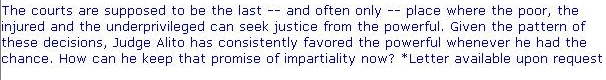 Thumb Up for Judge Samuel Alito today 2 Feb. 2006 :From Edward Kennedy website 2006